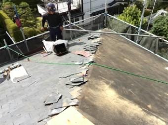既存屋根材撤去
