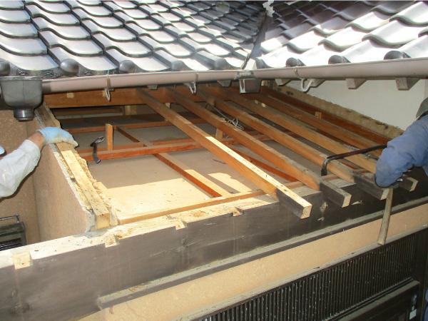 ガルバリウム鋼板による立平葺きにて施工予定