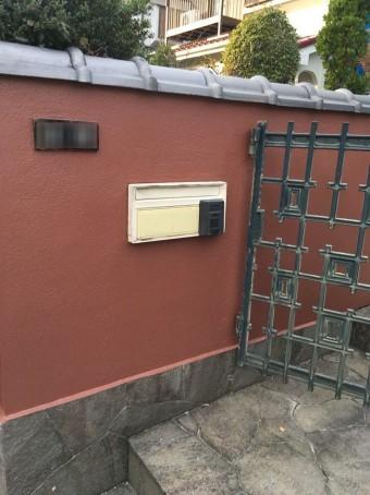 塀塗装完了