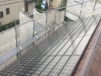 太陽光パネル設置作業