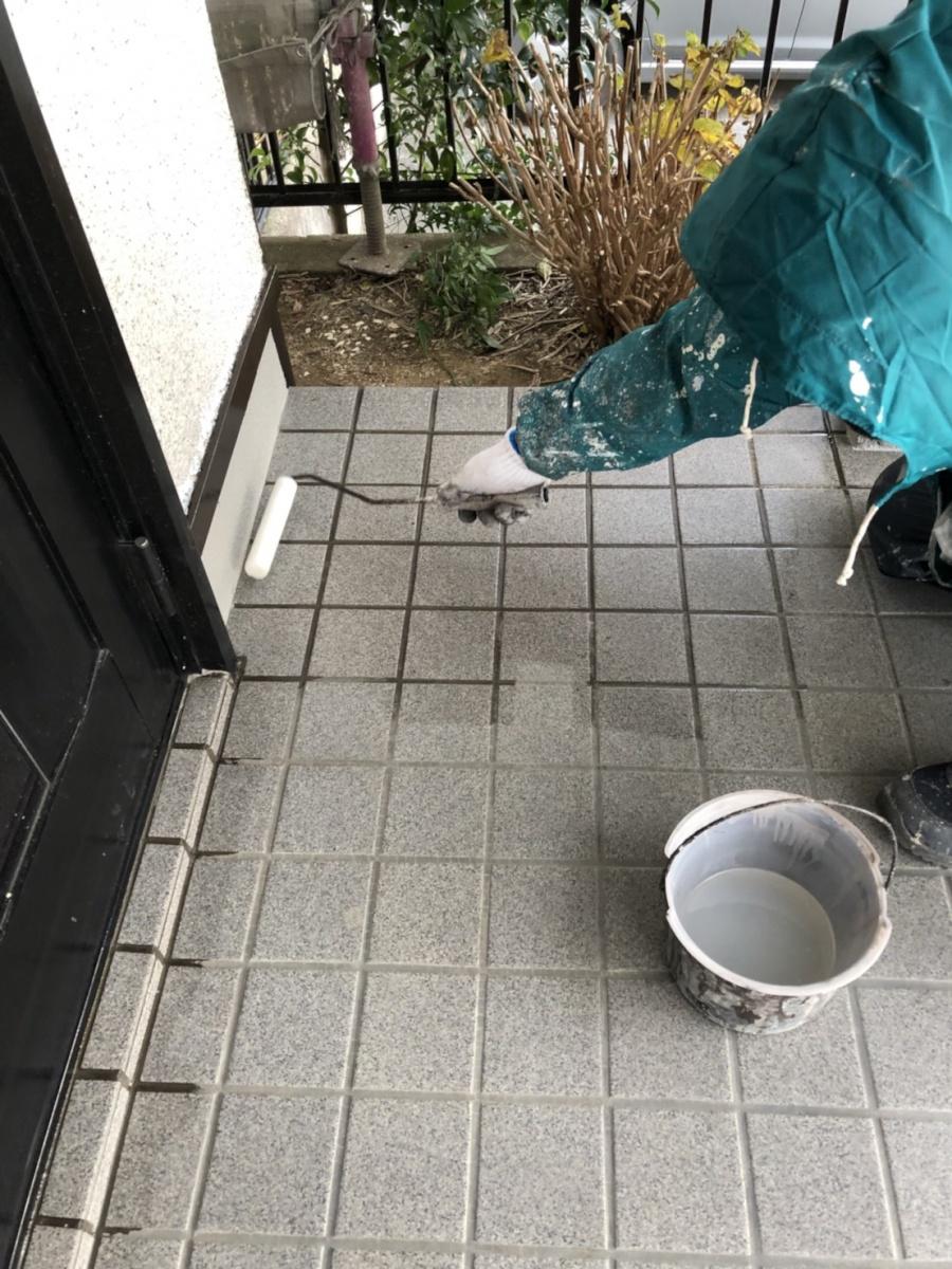 タイルの滑り止め塗装をサービス!各務原市