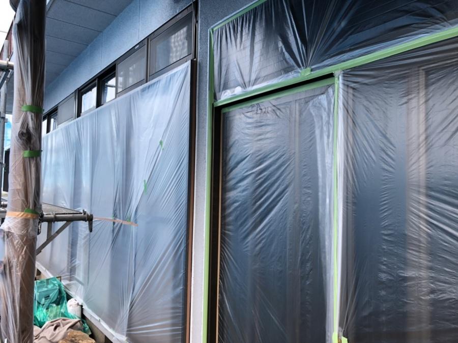 玄関と窓の養生